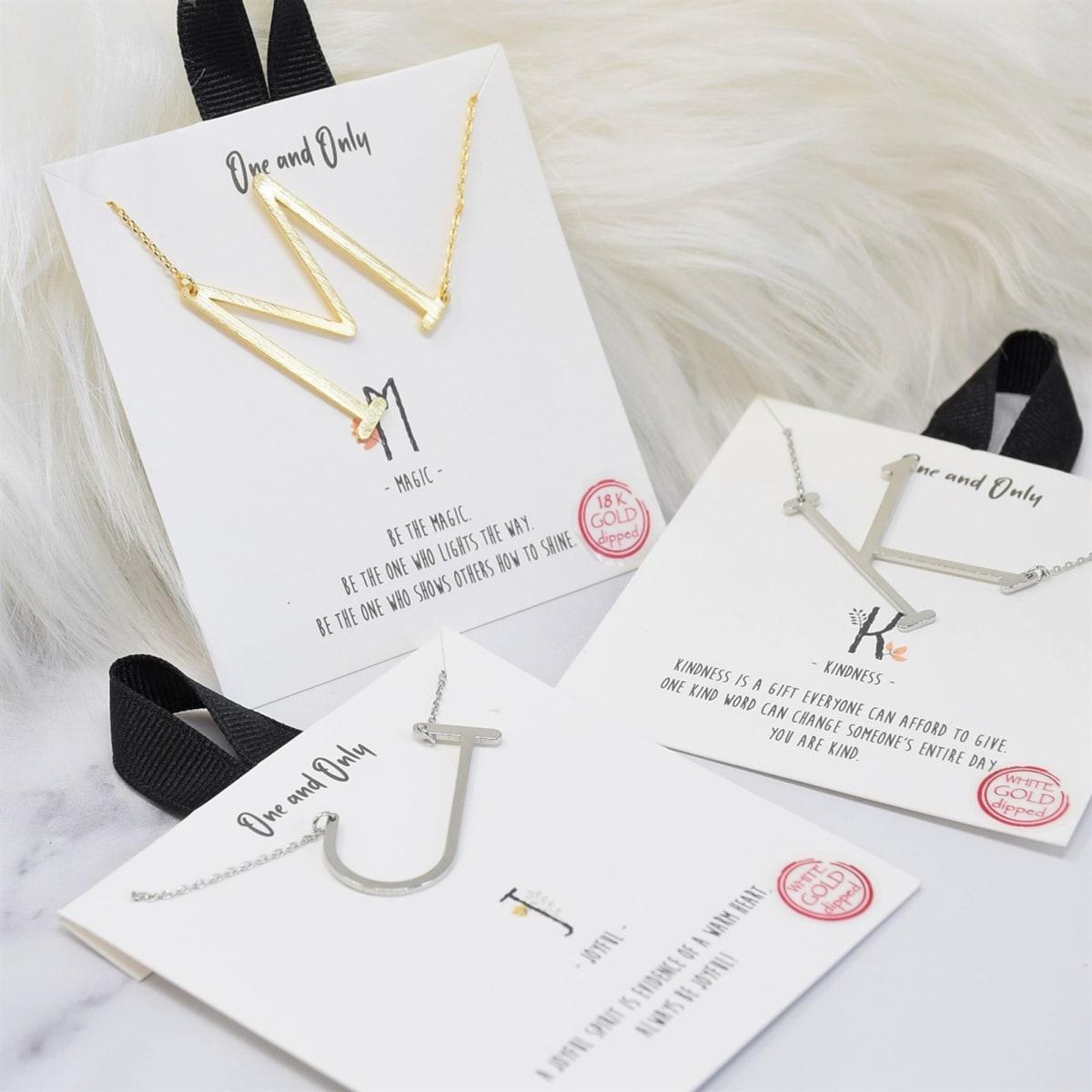 1 Sideways Monogram Necklace
