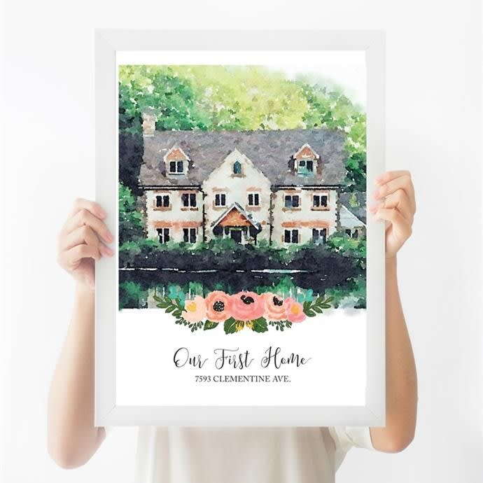 Custom Watercolor House Print | Free Shipping