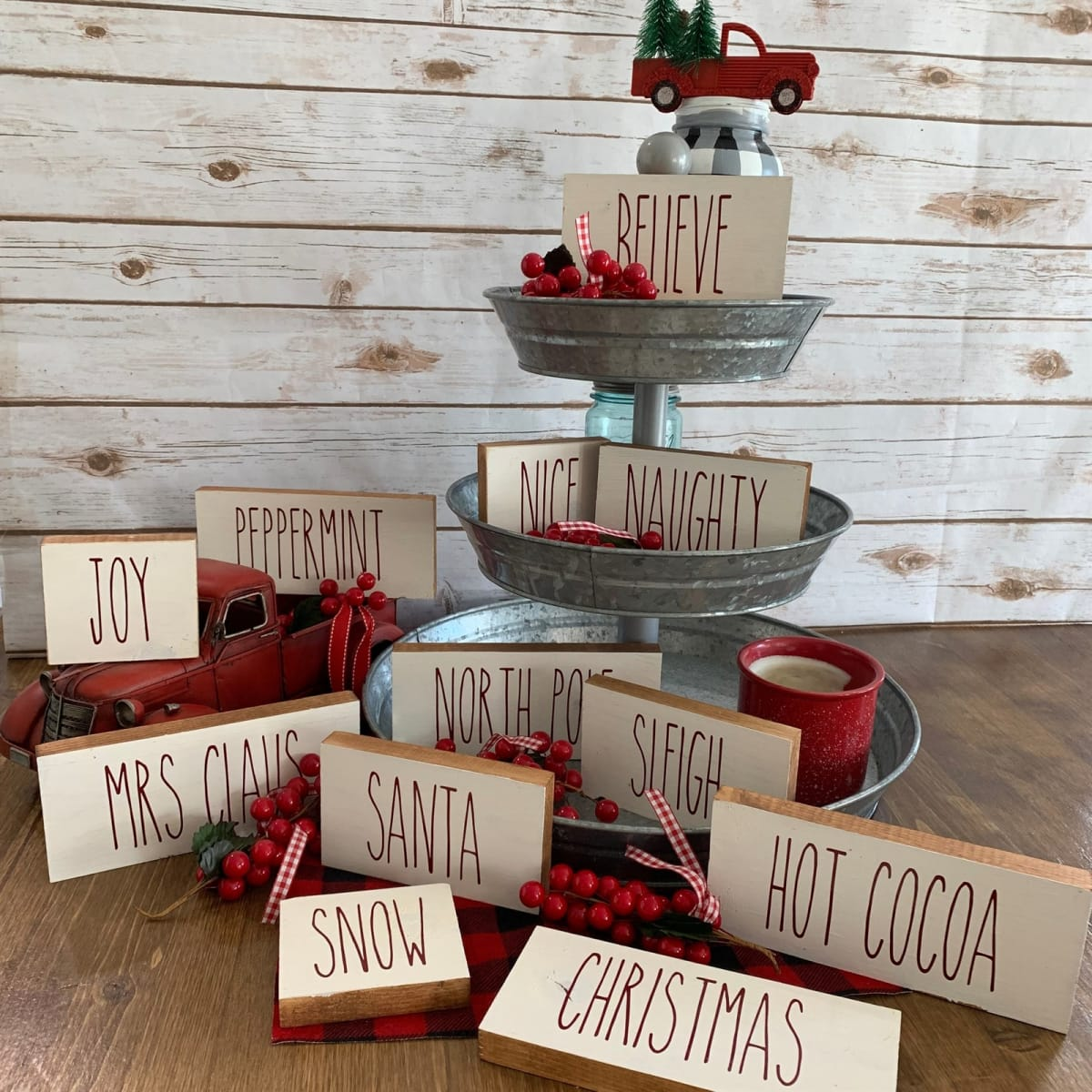 Christmas Farmhouse Word Blocks