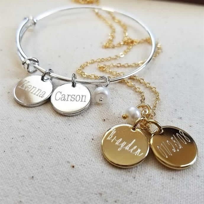 Personalized Engraved Necklace or Bangle