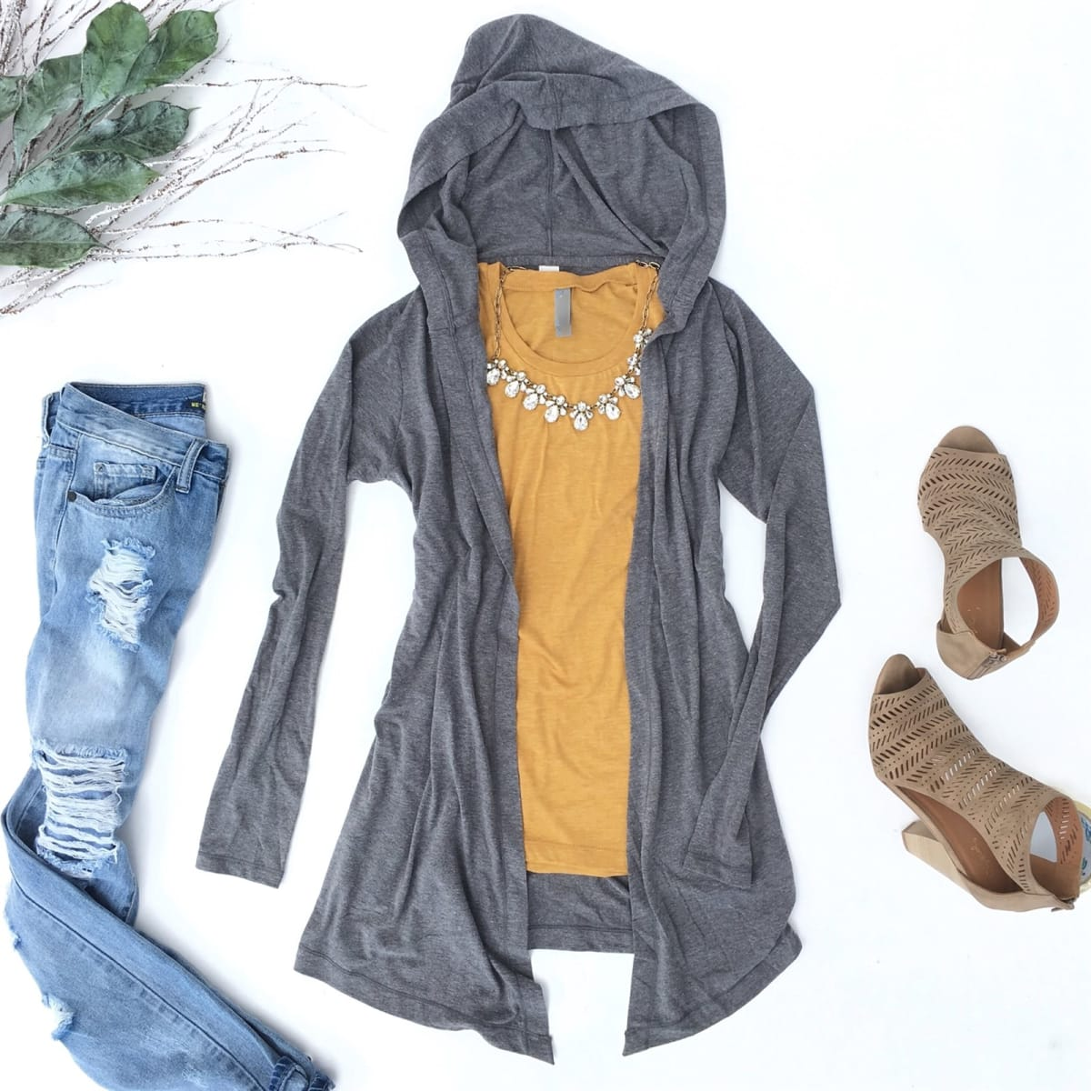 Triblend Hooded Cardigan   Free Shipping