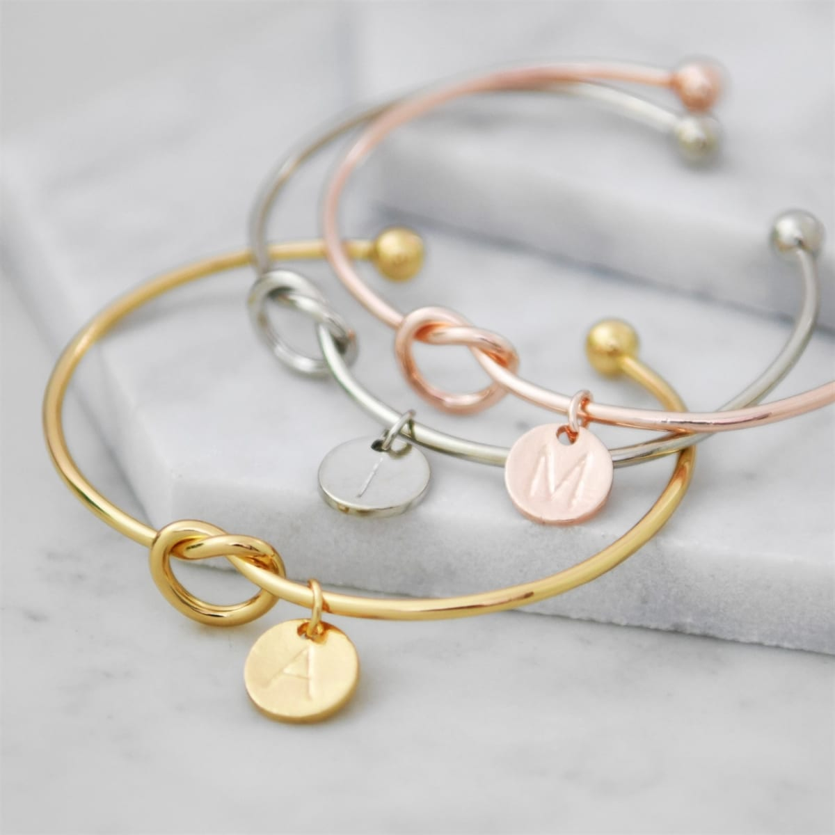 Initial Knot Cuffs | Free Shipping