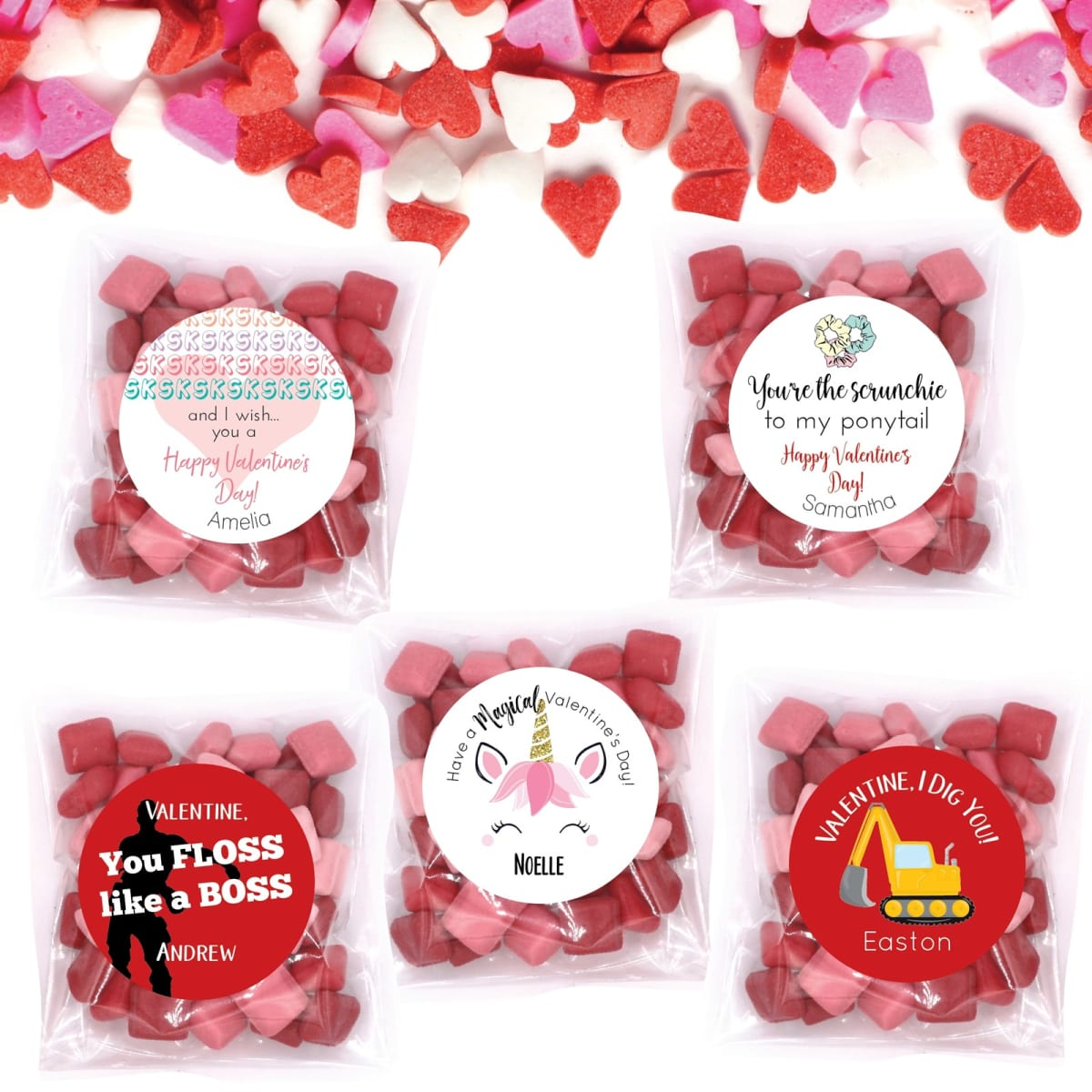 Valentine Stickers & Bags