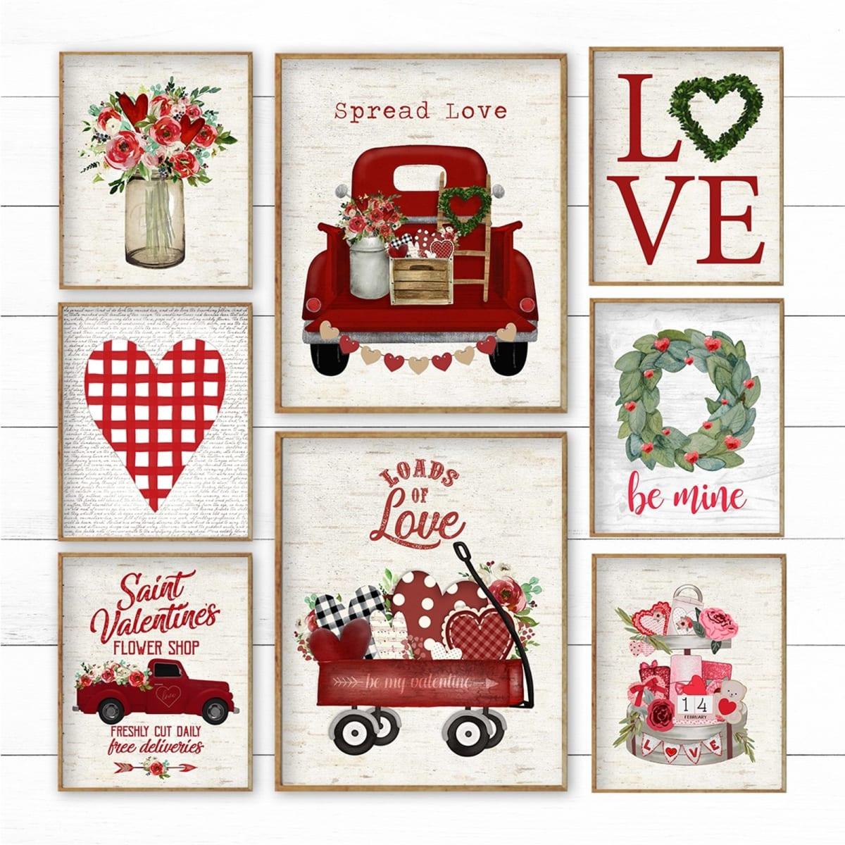 Large Valentines Prints