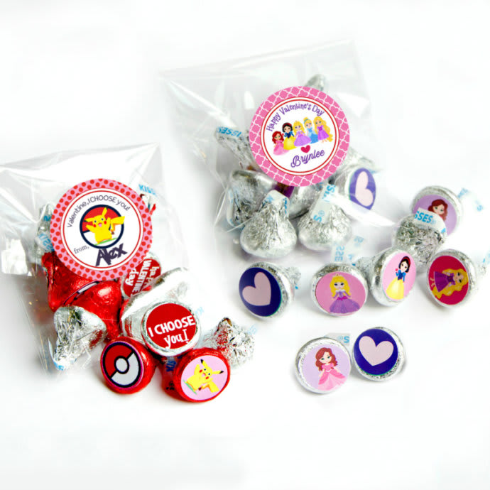 Personalized Valentine Sticker Sets