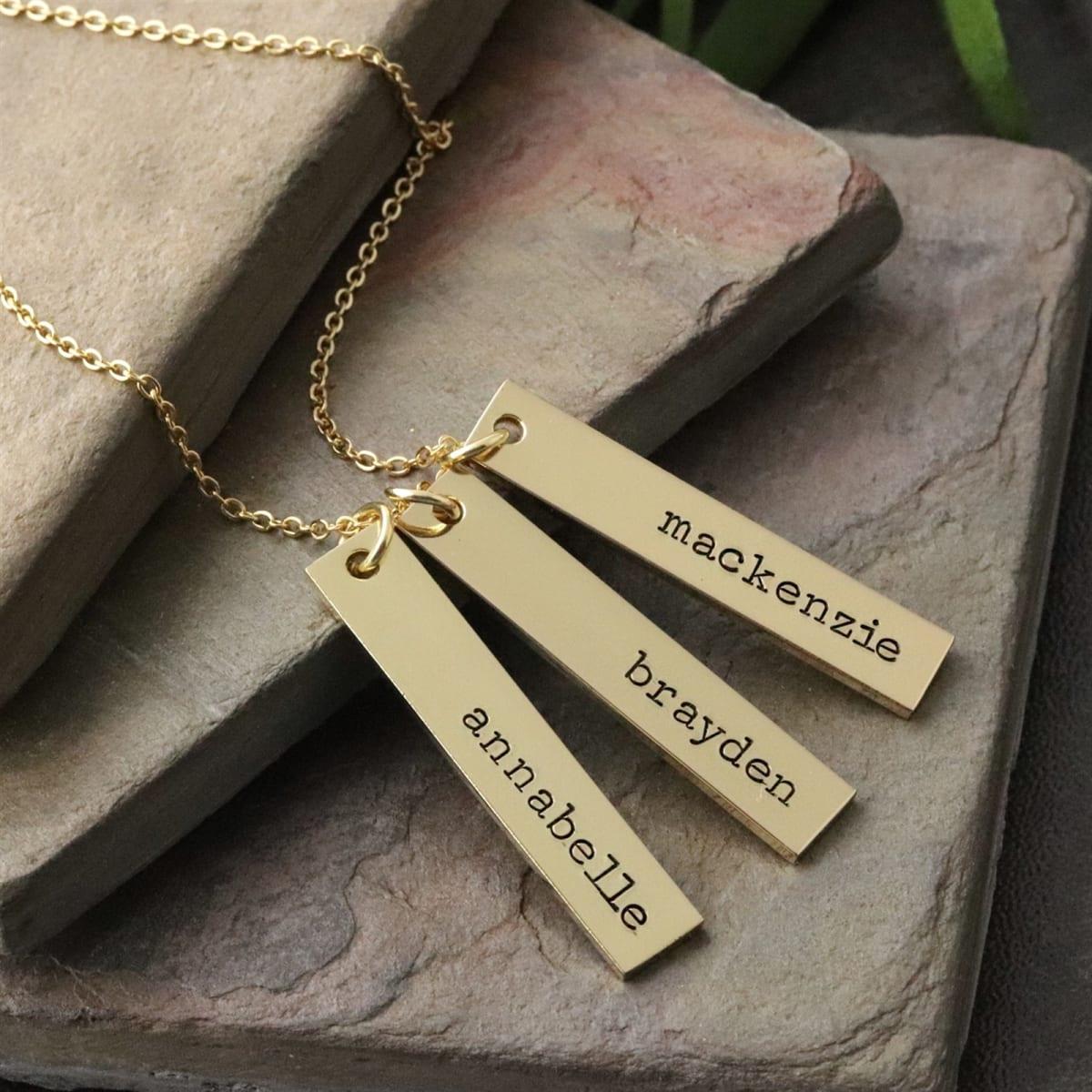 $12.99 (reg $35) Personalized Bar Pendant Necklace