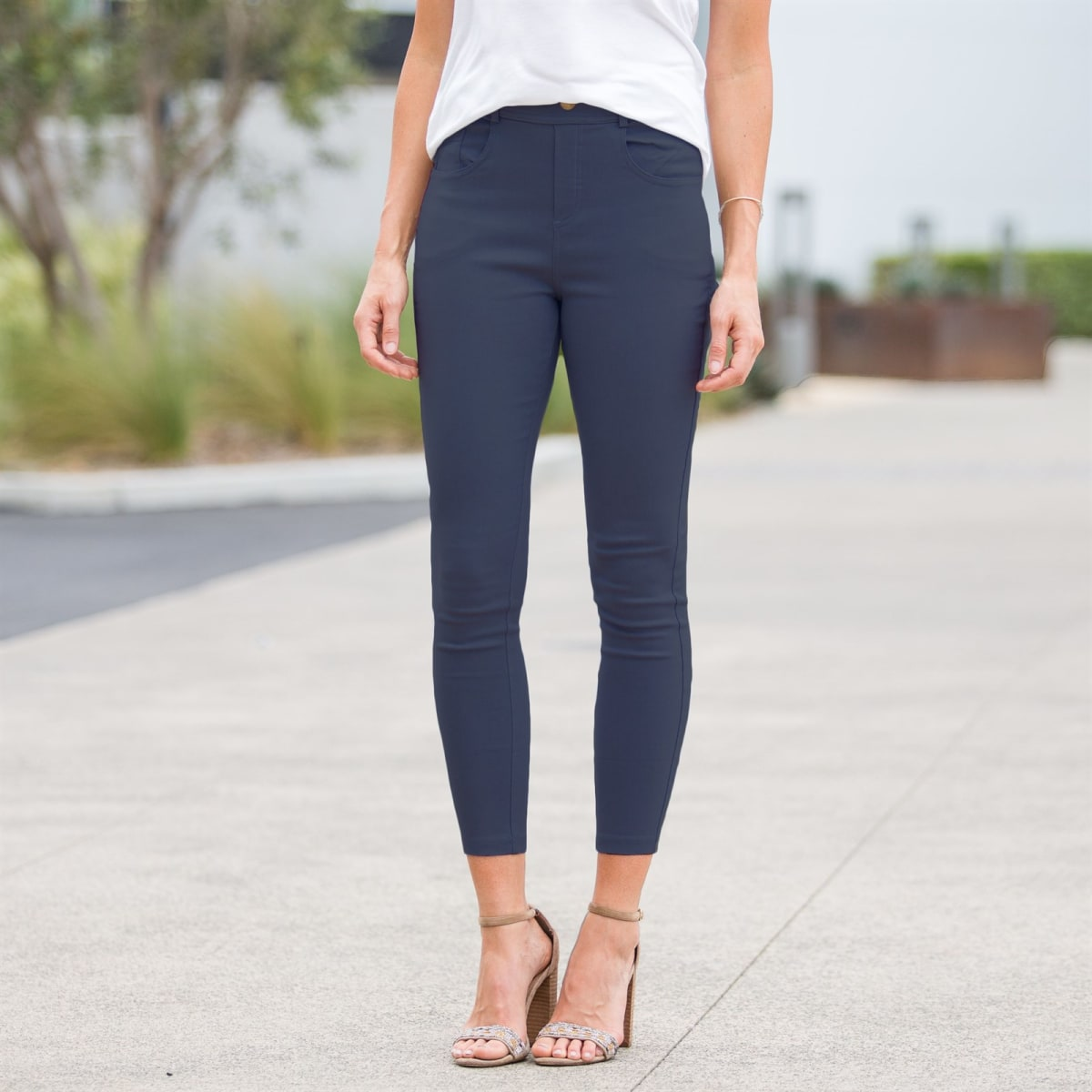 Elastic Stretch Jeggings