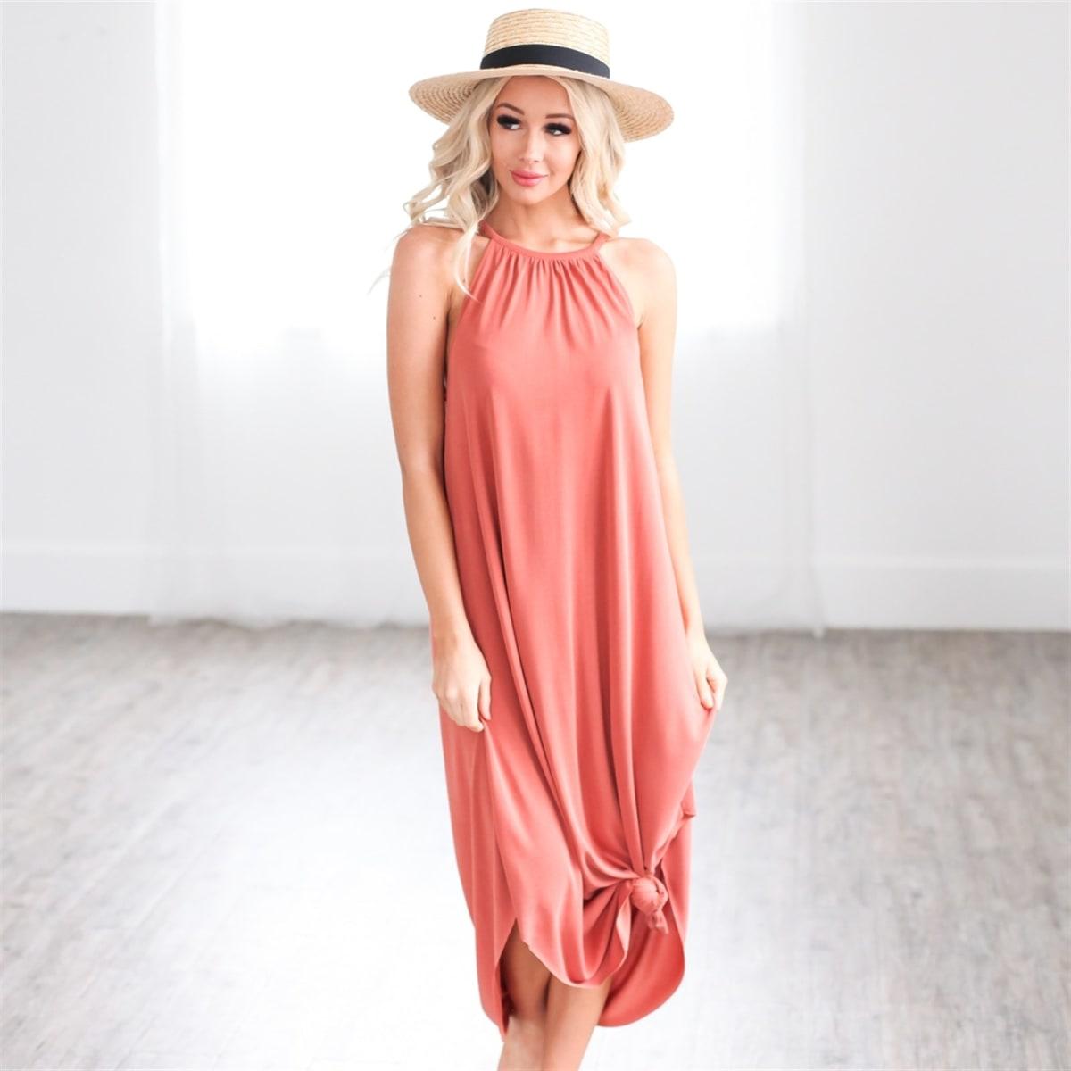 Designer Inspired Halter Dress
