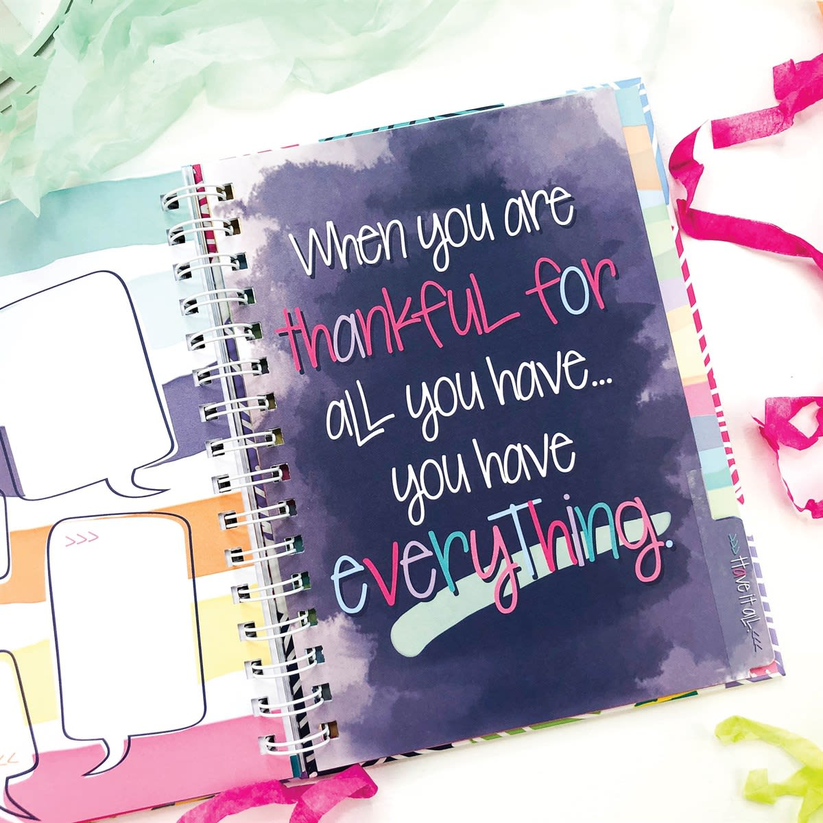 52-Week Gratitude Journal | 165 Stickers