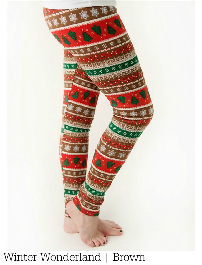 bc0b5891341e6f Fleece-Lined Holiday Leggings. Previous Image. Next Image