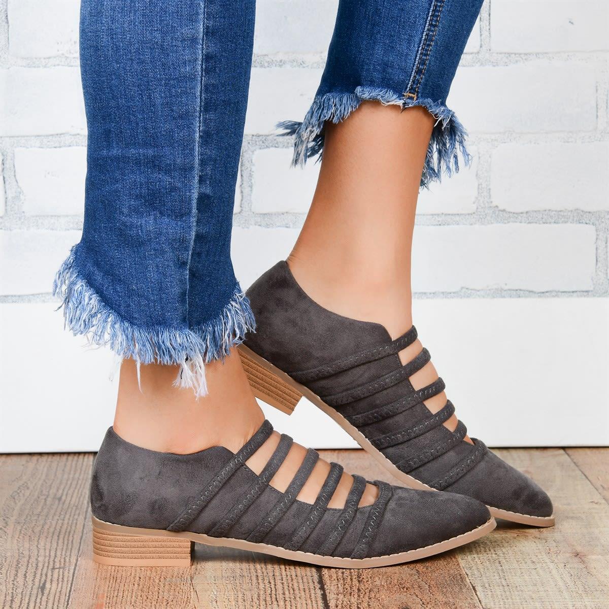 Strappy Almond Toe Flats
