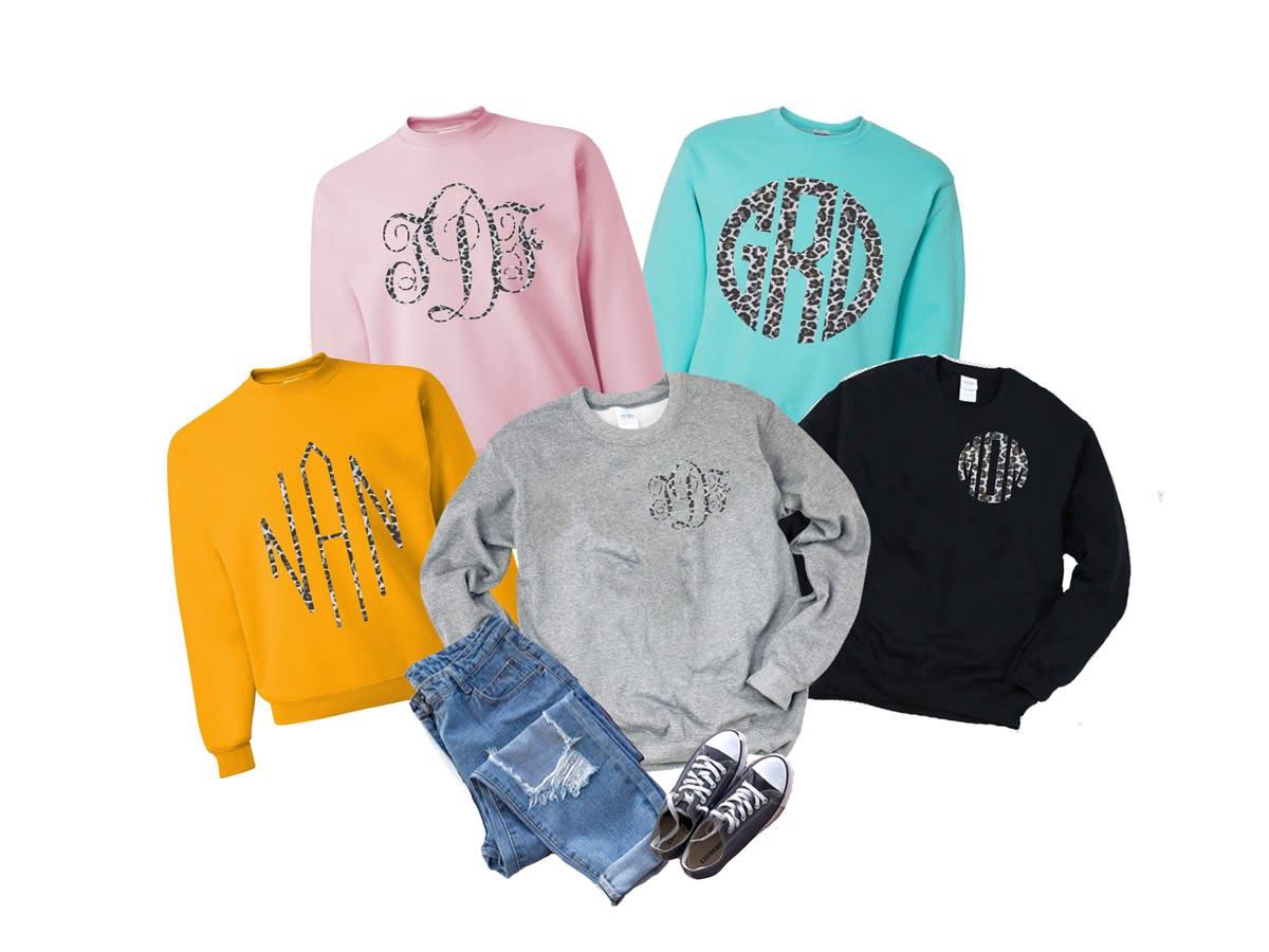 $19.99 (reg $40) Leopard Monogram Sweatshirt