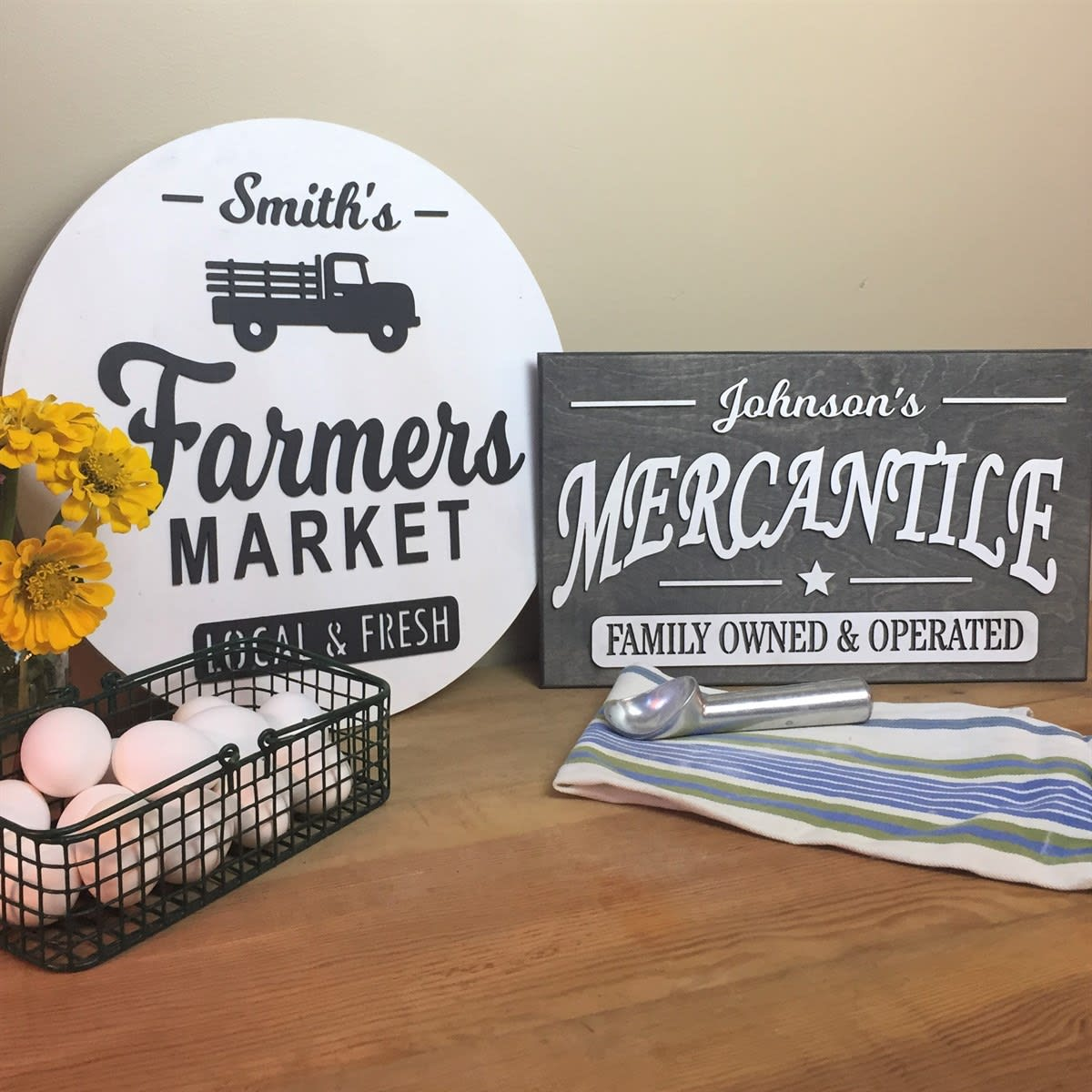 Personalized Farmhouse Signs