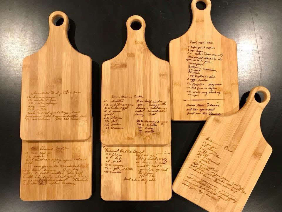 Handwritten Recipe Cutting Board
