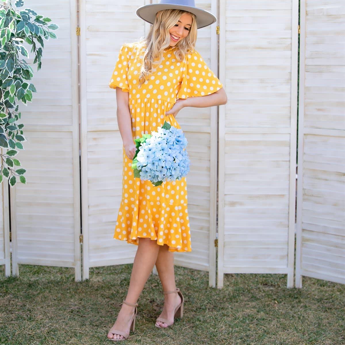 Buttery Soft  Polka Dot Dress