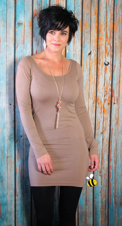 afb1554e9ab Seamless Extra Long Long Sleeve Layering Tunic- 6 Colors. Previous Image.  Next Image