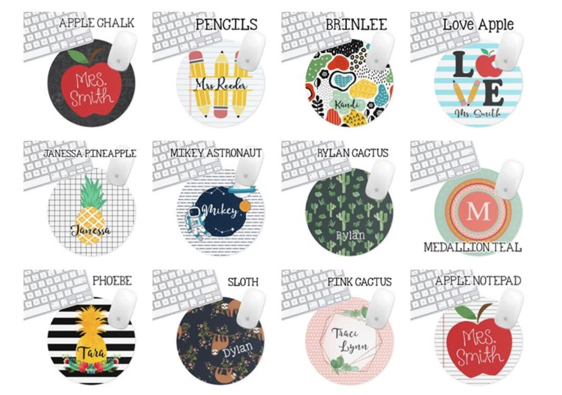 Personalized Round Mouse Pads- GREAT GIFT! .99 + FREE SHIPPING!