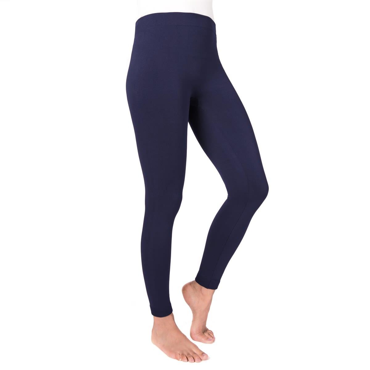 MUK LUKS ® Solid Fleece Lined Leggings | Free Shipping