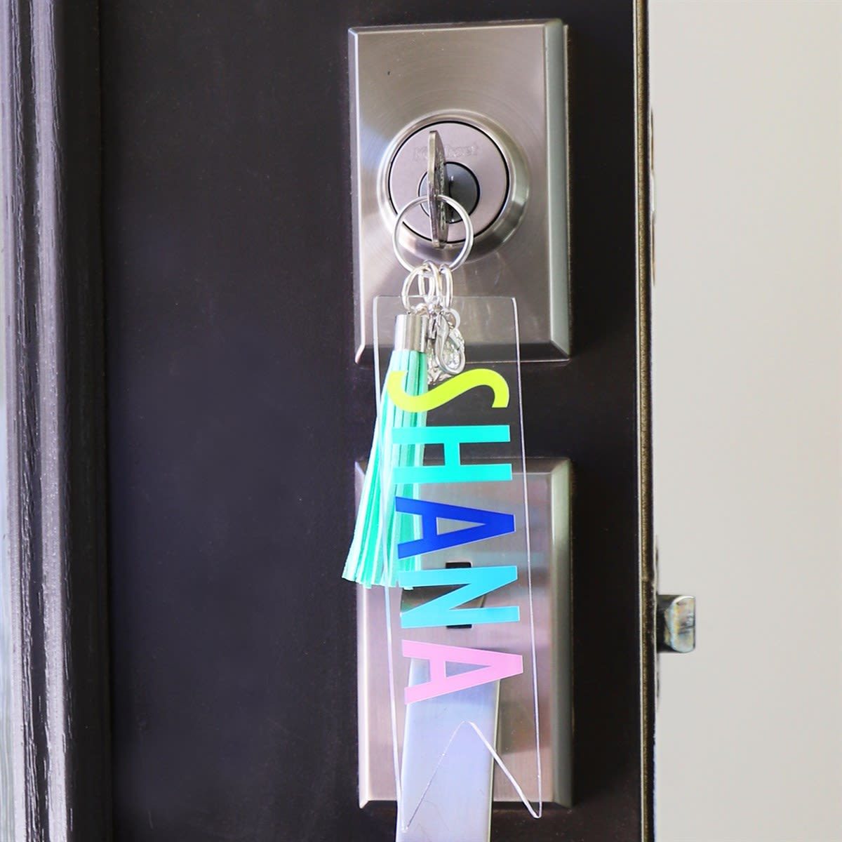 Color Pop Tassel Key Chains | Handmade