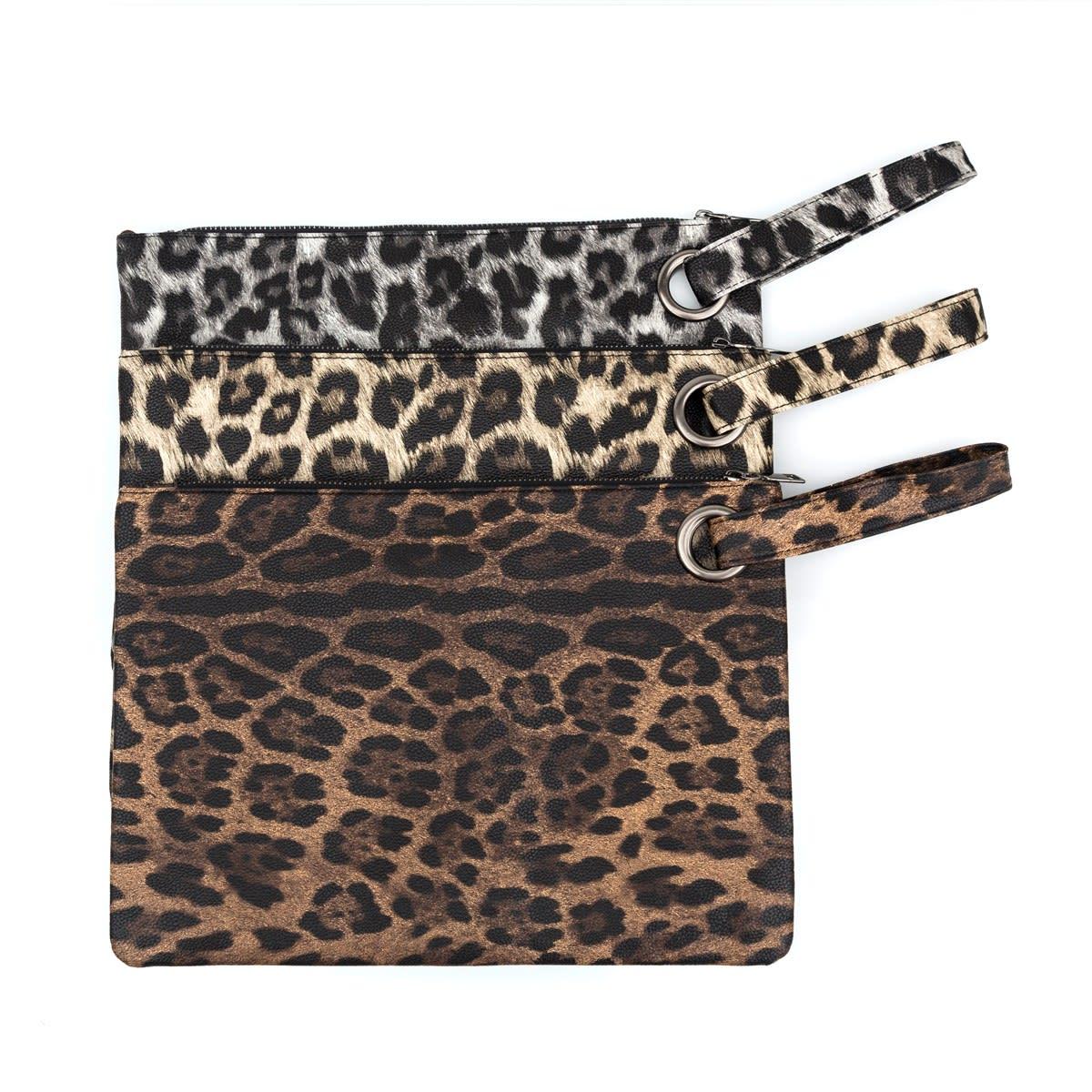 Leopard Print Oversized Clutch