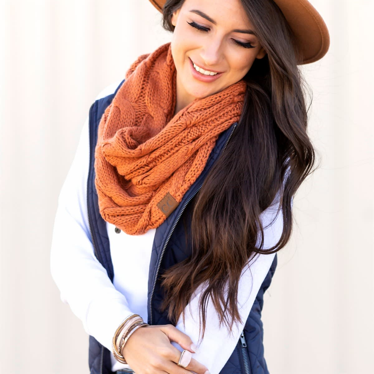 CC Brand Cable Knit Scarves | Free Shipping