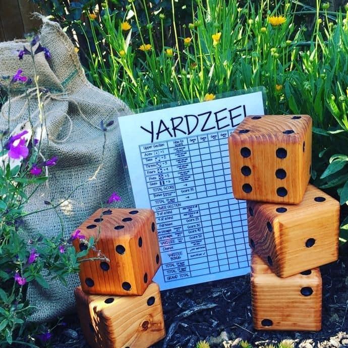 Yardzee | Large Yard Dice Game, Fatheru0027 Day