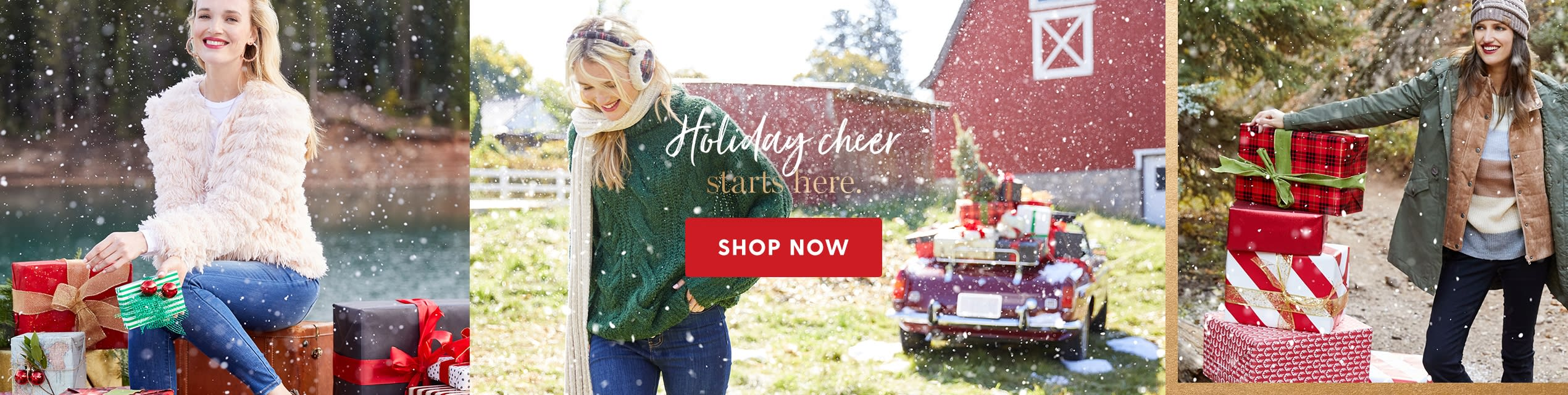 Holiday cheer starts here. Shop Now