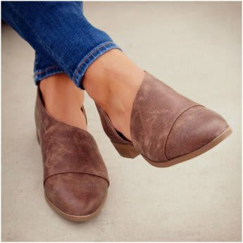 Side Cut Out Ankle Flat   New Color   Jane