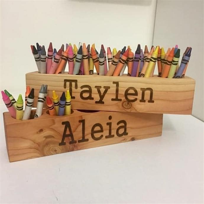 Throw In Some Coloring Books Crayons Markers And This Would Make A Perfect Gift For Your Little Artist Or Use As Desk Caddy To Organize Office