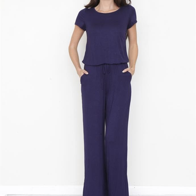 Blouson Drawstring Jumpsuit Blowout