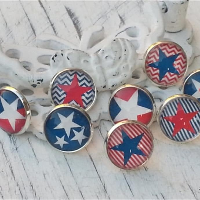 USA 4th of July Earrings