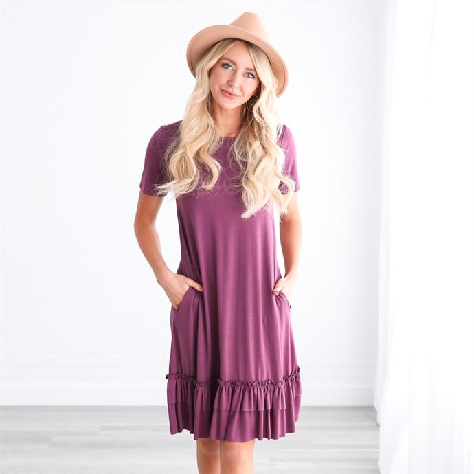 Kenya Ruffle Bottom Dress