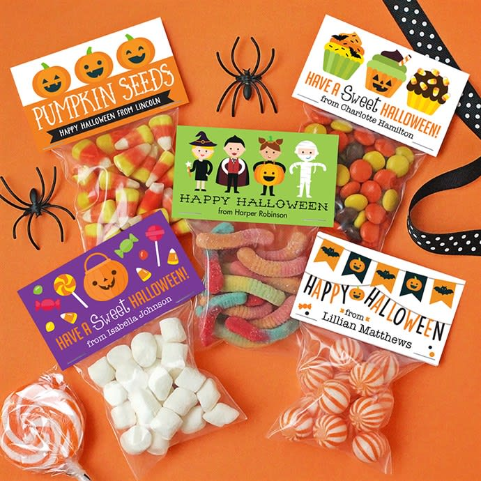 Personalized Halloween Labels & Bags (Set of 24) For Only $7.95!