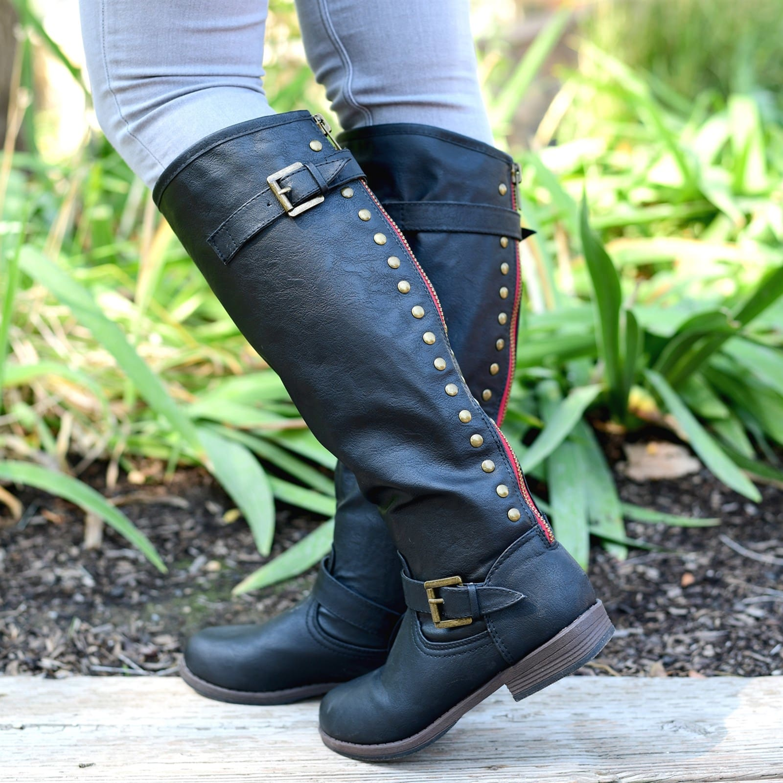 Studded Riding Women's Boot (Wide Calf Options)