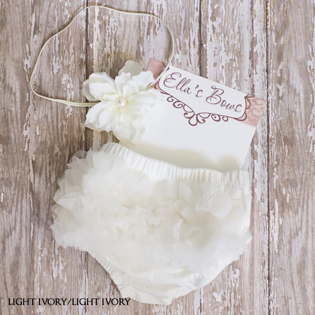 Infant Floral Headband and Ruffle Bloomers   Jane