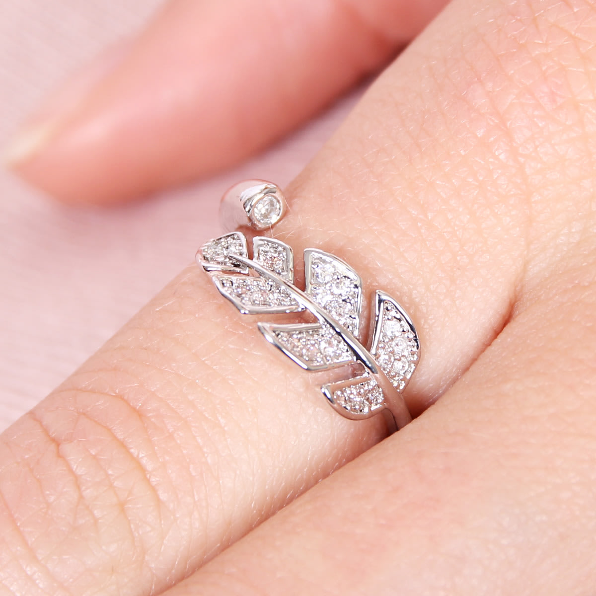 Cubic Leaf Ring | Jane