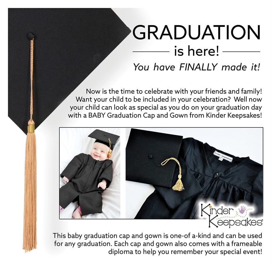 The most adorable BABY Graduation Cap and Gown you have ever seen ...