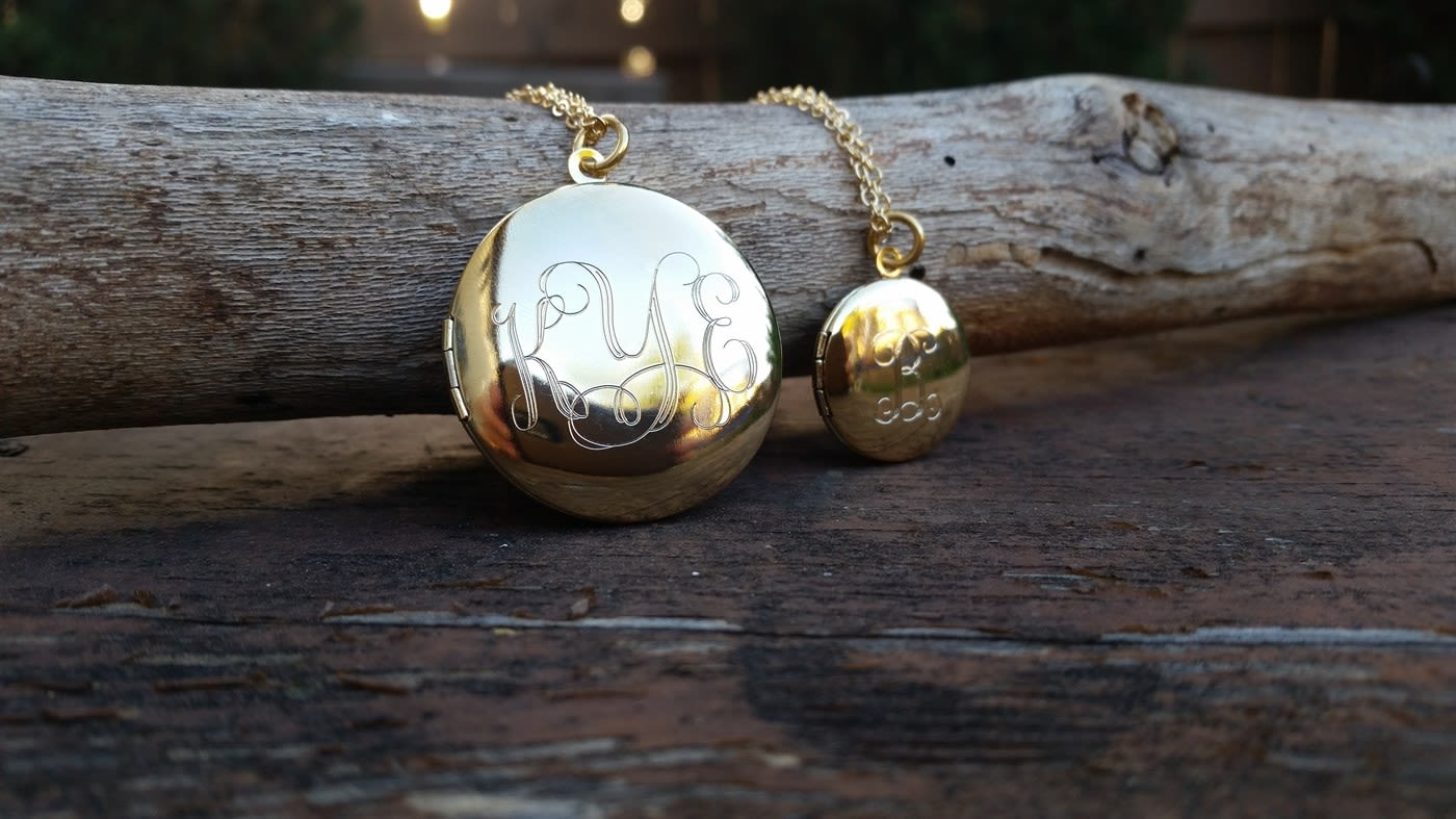 locket monogram gold lockets tree custom family birthstone