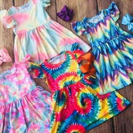 Tye Dye Soft Dresses   4 Styles