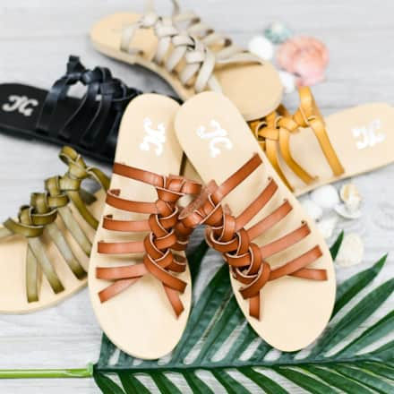 Knotted Slip-On Sandals