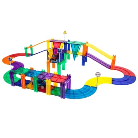 50-Pc Magnetic Tiles Race Track Set