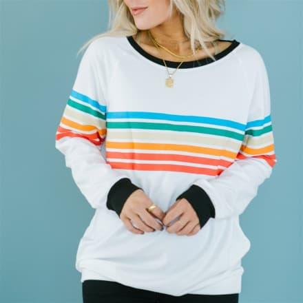 Fall Rainbow Stripe Sweater