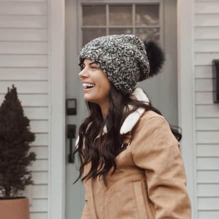 MUK LUKS® Women's Frosted Sherpa Pom Hat