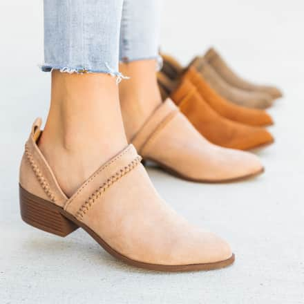 Stitched Side-Cut Booties