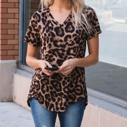 Short Sleeve Leopard & Snake Tee