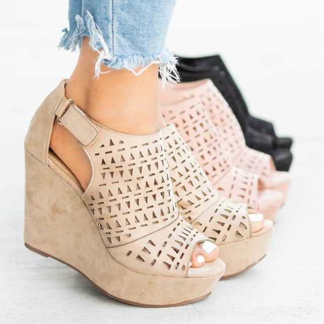 f8617da28108 Tribal Laser-Cut Wedges