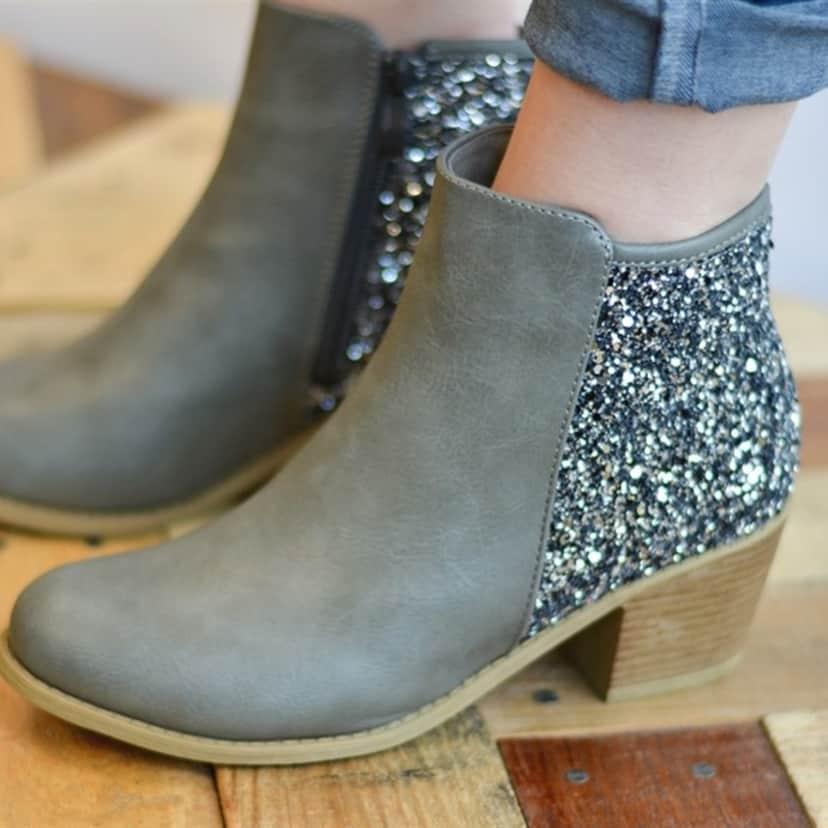 Glitter Heel Booties   Jane