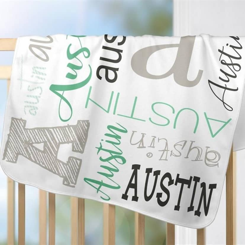 Personalized Baby Blanket Personalized Soft Baby Blanket Minky Baby Blanket with Name Personalized Baby Shower Gift