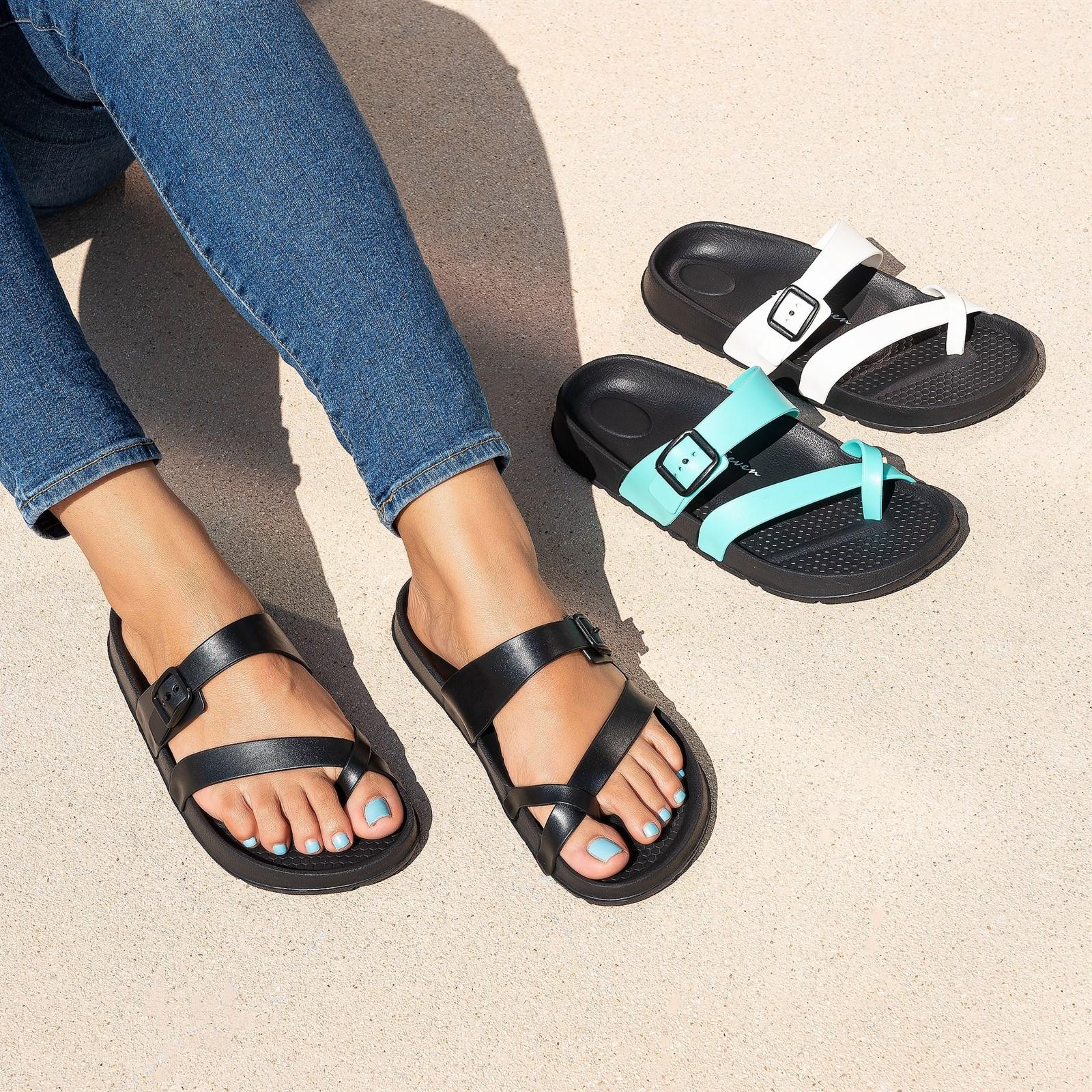 Women's Cross Strap Foam Sandals $17.99 Shipped (Was $40)
