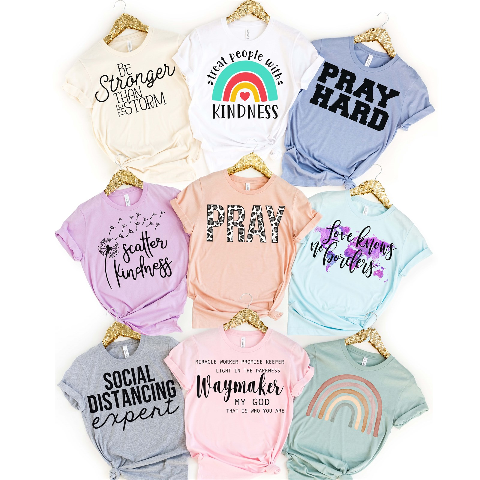Pray Hard Tees